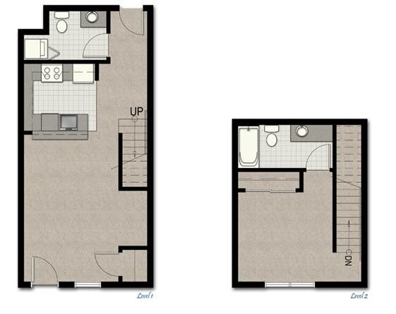 Floor Plan  Townhome TH2 FloorPlan at The Corydon, Seattle, WA, 98105, opens a dialog