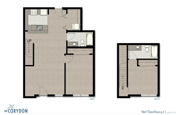 Floor Plan  Townhome TH4 1 FloorPlan at The Corydon, Washington, opens a dialog
