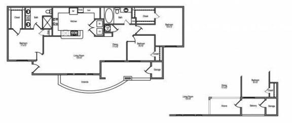3 bedroom apartments in northwest houston