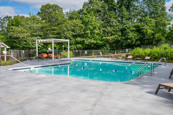 Large Pool with Built In Seating