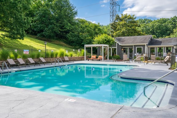 Pool with Built In Seating
