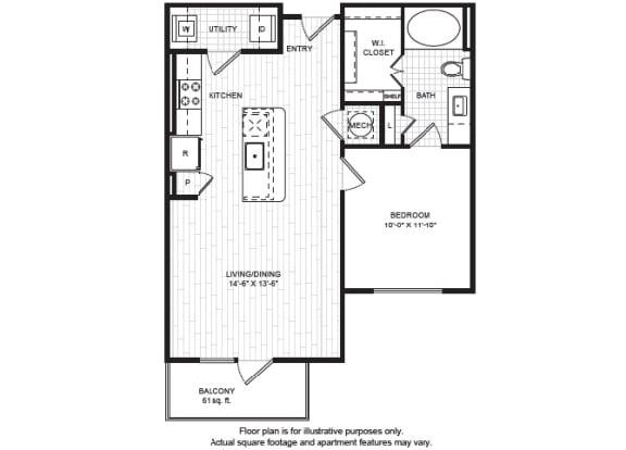 Floor Plan  A3(1) Floor Plan at Windsor Old Fourth Ward, Atlanta, opens a dialog