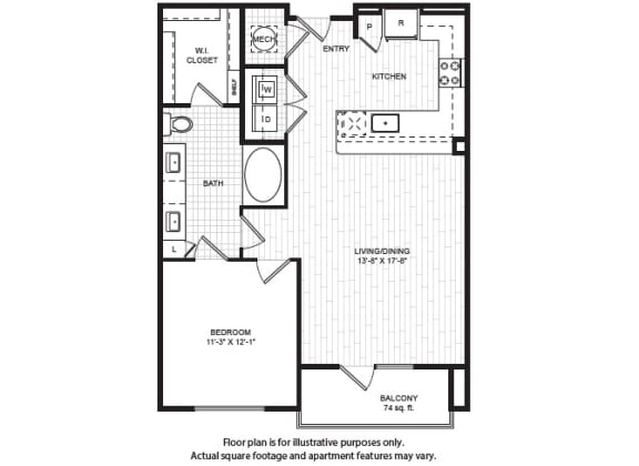 A6(1) Floor Plan at Windsor Old Fourth Ward, Atlanta, GA, 30312