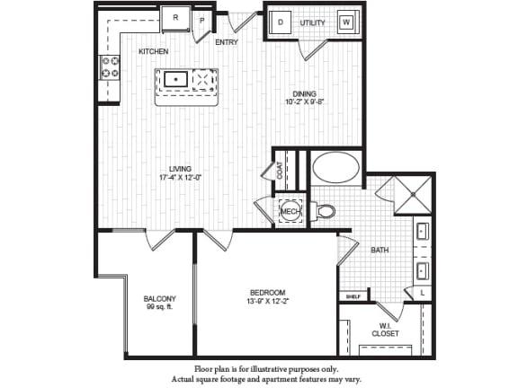 Floor Plan  A7(1) Floor Plan at Windsor Old Fourth Ward, Atlanta, GA, opens a dialog