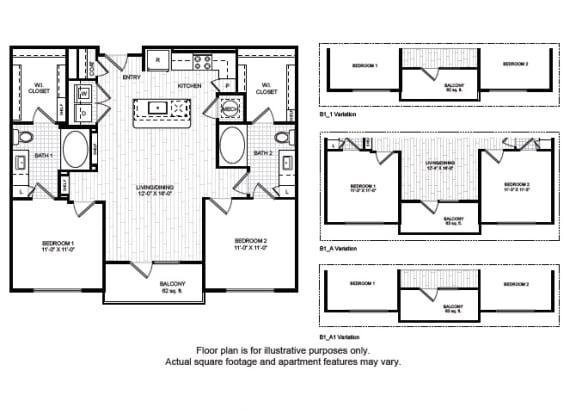 B1(1) Floor Plan at Windsor Old Fourth Ward, Atlanta, 30312