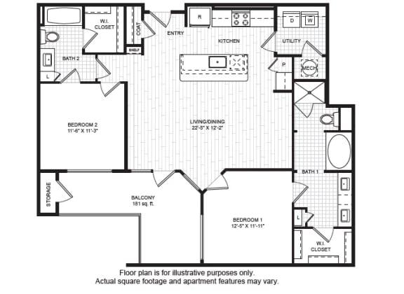 Floor Plan  B3(1) Floor Plan at Windsor Old Fourth Ward, Atlanta, opens a dialog