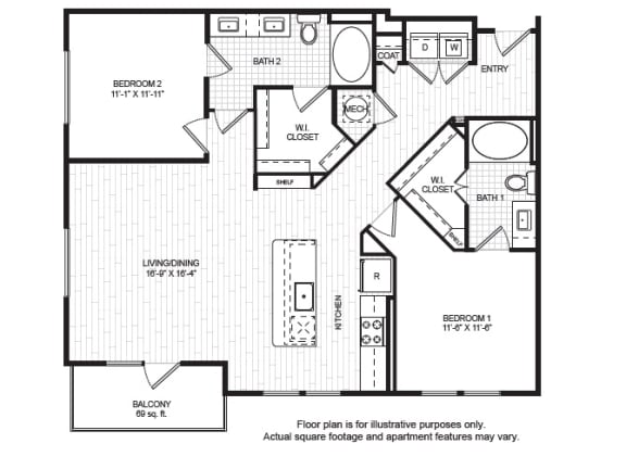Floor Plan  B3_A(1) Floor Plan at Windsor Old Fourth Ward, Atlanta