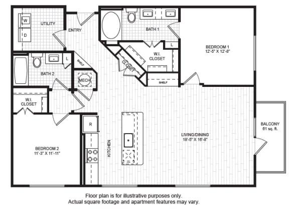 Floor Plan  B4(1) Floor Plan at Windsor Old Fourth Ward, Georgia