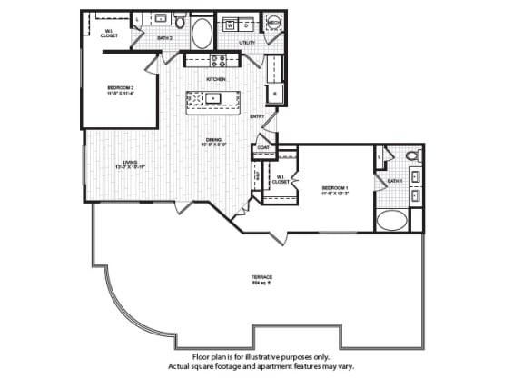 Floor Plan  B5(1) Floor Plan at Windsor Old Fourth Ward, Georgia, 30312