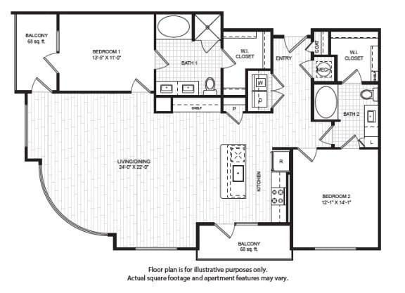 Floor Plan  B7(1) Floor Plan at Windsor Old Fourth Ward, Atlanta, GA