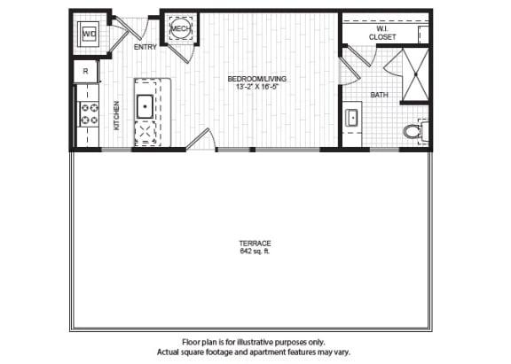 Floor Plan  P1 Floor Plan at Windsor Old Fourth Ward, Atlanta, 30312