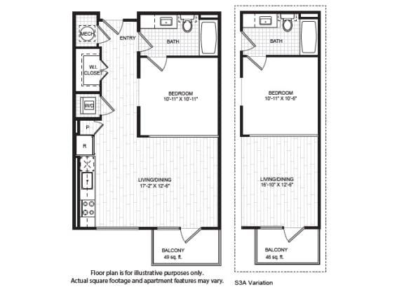 Floor Plan  S3(2) Floor Plan at Windsor Old Fourth Ward, Atlanta, GA, opens a dialog