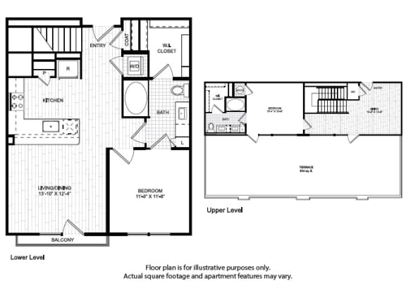 Floor Plan  T1 Floor Plan at Windsor Old Fourth Ward, Atlanta, Georgia