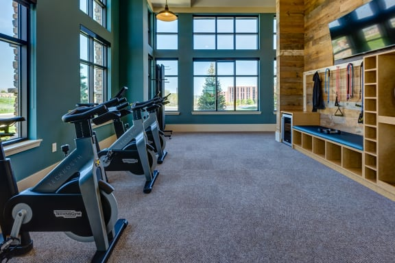 Spin bikes at Windsor at Pinehurst, Lakewood, CO
