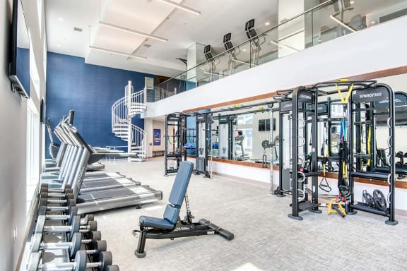 Fitness center at Windsor at Hopkinton, MA, 01748