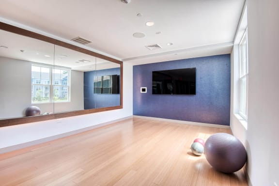 Yoga room at Windsor at Hopkinton, Hopkinton, MA