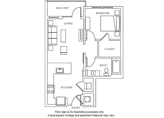 Floor Plan  A1 floor plan at Windsor Parkview, Georgia, 30341