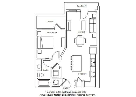 Floor Plan  A4 floor plan at Windsor Parkview, Chamblee, GA