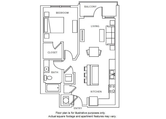 Floor Plan  A5 floor plan at Windsor Parkview, Chamblee, GA