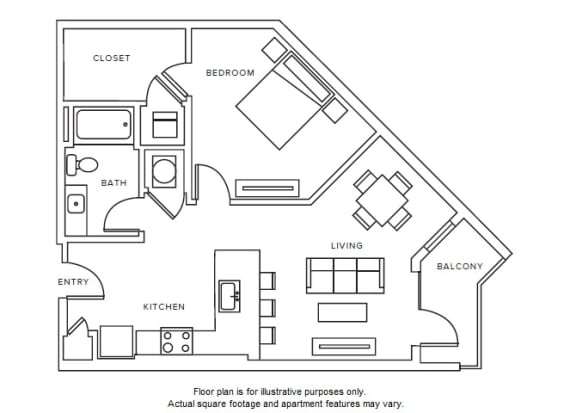 Floor Plan  A6 floor plan at Windsor Parkview, GA, 30341