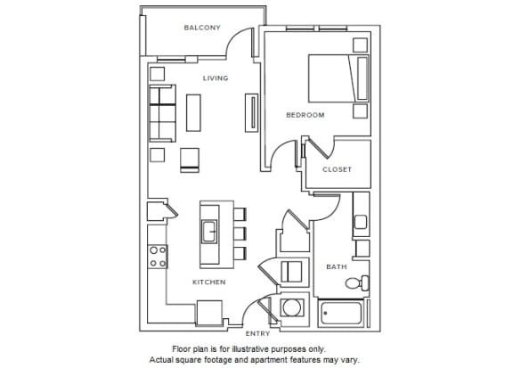 Floor Plan  A7 floor plan at Windsor Parkview, GA, 30341