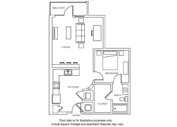 Floor Plan  A8 floor plan at Windsor Parkview, GA, 30341