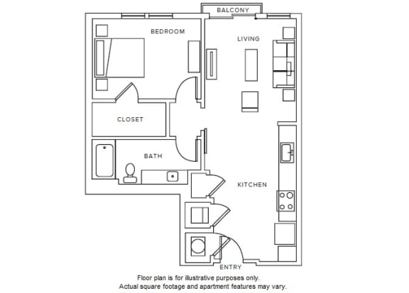 Floor Plan  A9 floor plan at Windsor Parkview, 5070 Peachtree Boulevard, 30341