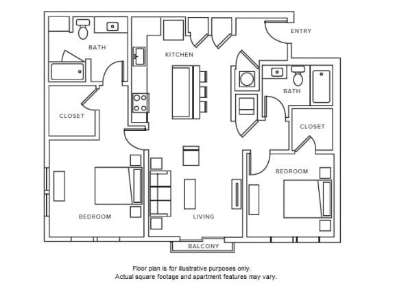 Floor Plan  B5 floor plan at Windsor Parkview, GA, 30341