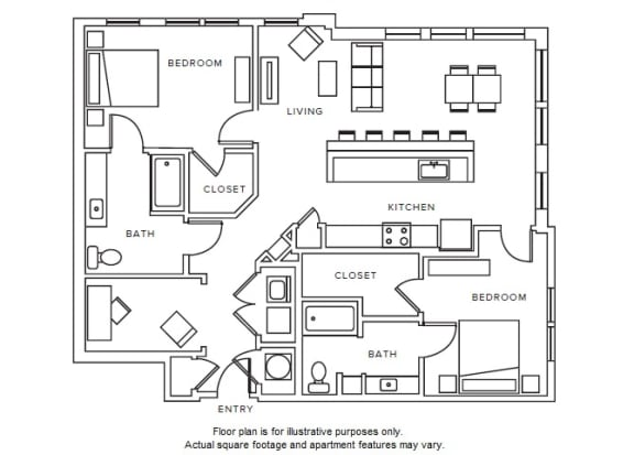 Floor Plan  B7 floor plan at Windsor Parkview, 5070 Peachtree Boulevard, 30341