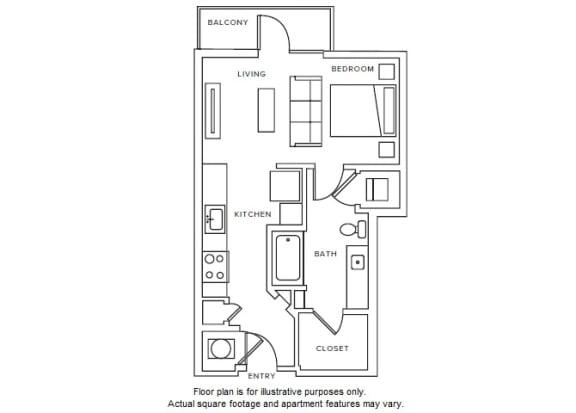 Floor Plan  S1 floor plan 2D at Windsor Parkview, Chamblee, GA
