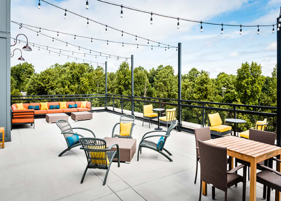 Rooftop seating at Windsor Parkview, Georgia, 30341