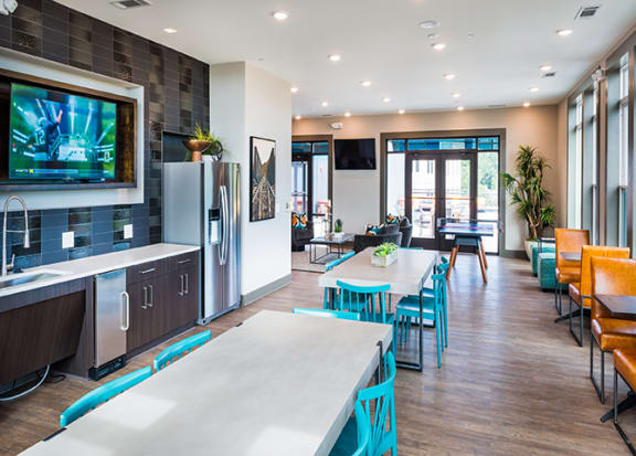 Clubhouse kitchen at Windsor Parkview, GA, 30341