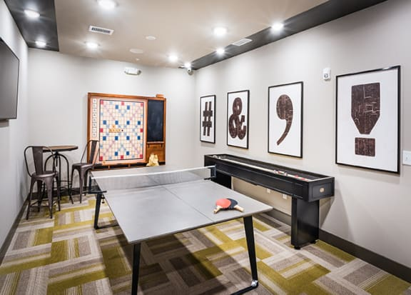 Ping pong table at Windsor Parkview, Chamblee, Georgia