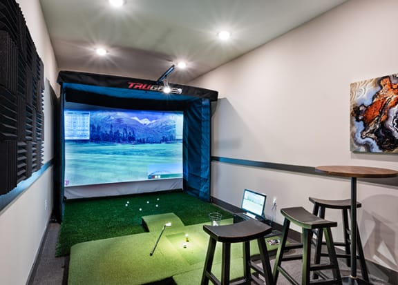 Virtual golf room at Windsor Parkview, Georgia, 30341