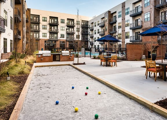 Bocce ball court at Windsor Parkview, 5070 Peachtree Boulevard, 30341