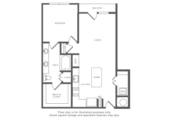 Floor Plan  1 Bed 1 Bath A12 Floor Plan at Windsor by the Galleria, Texas, 75240, opens a dialog