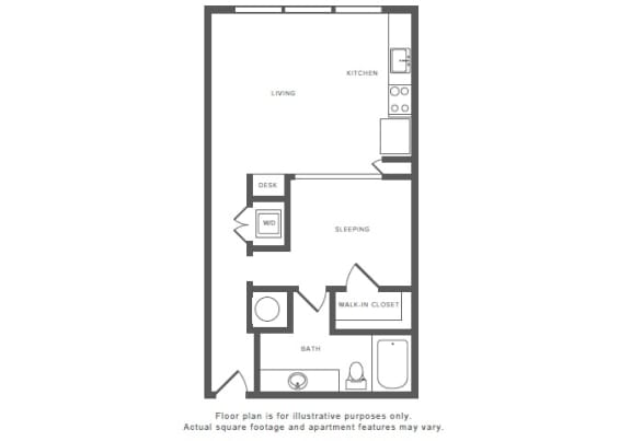 A4 Floor Plan at Windsor by the Galleria, Dallas, 75240