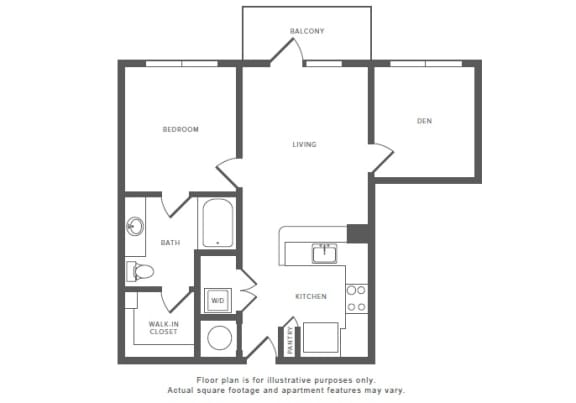 Floor Plan  1 Bed 1 Bath A6S Floor Plan at Windsor by the Galleria, Texas, 75240, opens a dialog