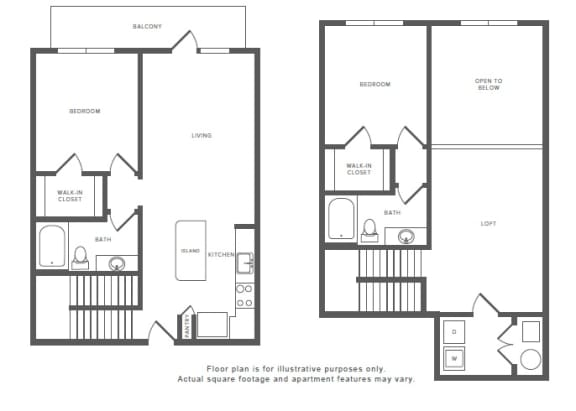 Floor Plan  2 Bed 2 Bath B6TH Floor Plan at Windsor by the Galleria, Dallas, TX, opens a dialog