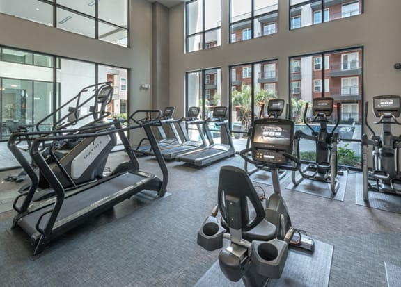 Two-Story Equinox-Inspired Fitness Center at Windsor by the Galleria, Dallas, Texas