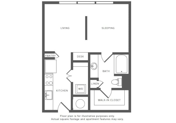 Floor Plan  0 Bed 1 Bath S1 Studio Floor Plan at Windsor by the Galleria, Texas, 75240, opens a dialog