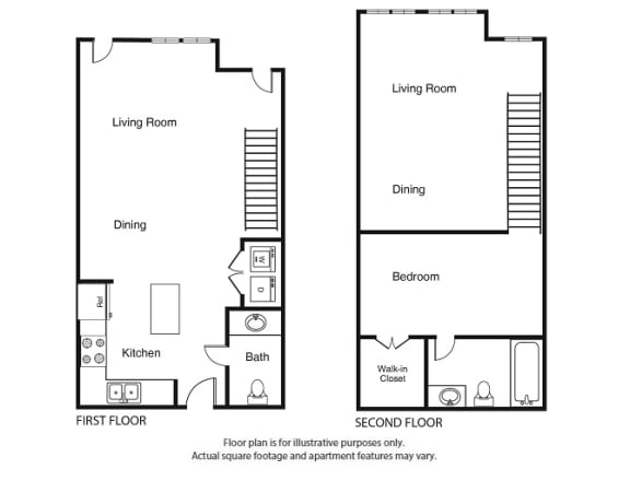 Floor Plan  1 Bed 1.5 Bath  A4 Floor Plan at Windsor West Lemmon, Dallas, 75209