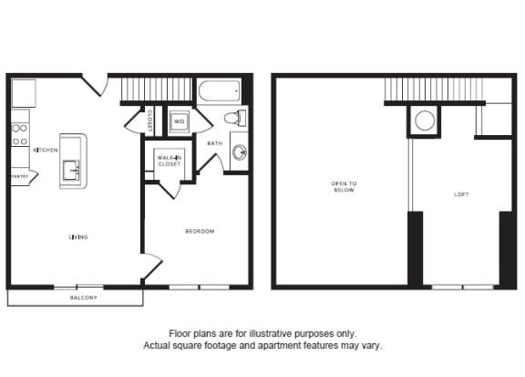 Floor Plan  A2L floor plan at Windsor Shepherd, 611 Shepherd Dr, 77007