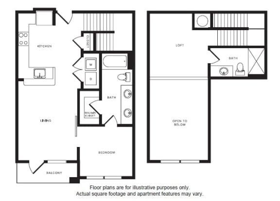 Floor Plan  A4L floor plan at Windsor Shepherd, TX, 77007