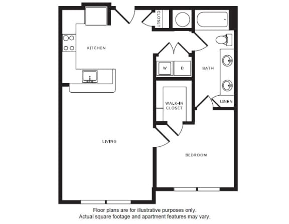 Floor Plan  A6 floor plan at Windsor Shepherd, Houston, Texas
