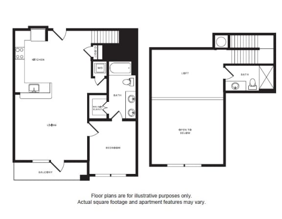 Floor Plan  A7L floor plan at Windsor Shepherd, Houston, TX