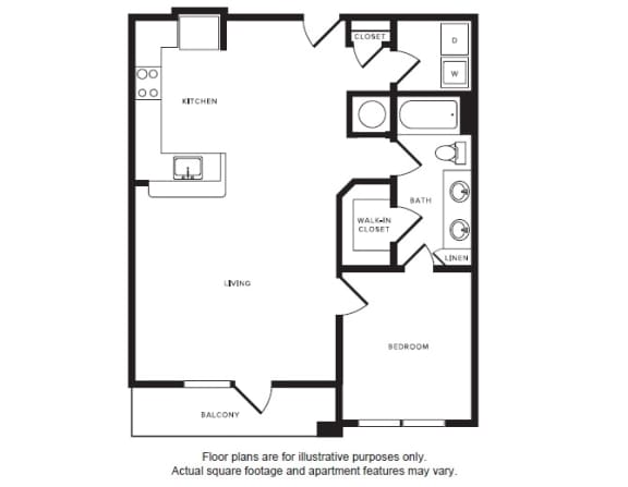 Floor Plan  A7 floor plan at Windsor Shepherd, 611 Shepherd Dr, 77007