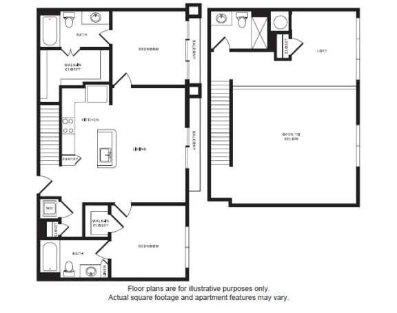 Floor Plan  B1L floor plan at Windsor Shepherd, Houston, Texas