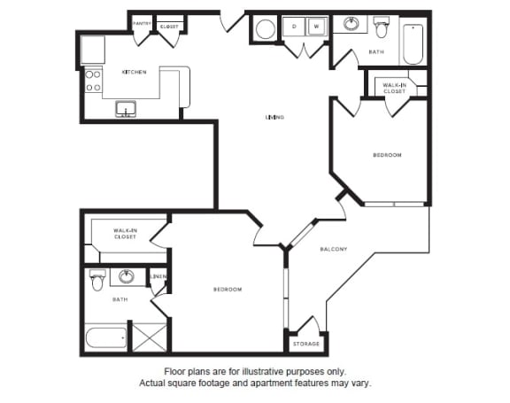 Floor Plan  B2 floor plan at Windsor Shepherd, TX, 77007