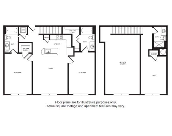 Floor Plan  B3L floor plan at Windsor Shepherd, Houston, TX